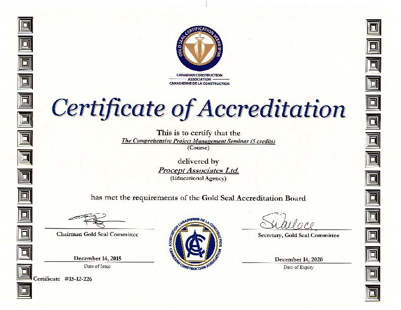 The Comprehensive Project Management Seminar | Procept Associates ...