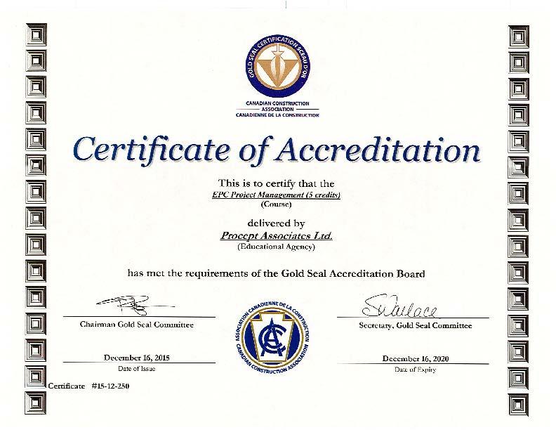 Epc Project Management Procept Associates Ltd Training